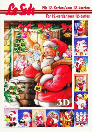 Father Christmas A5 3D Decoupage Book from Le Suh